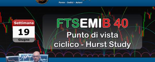 FTSEMIB40 – PUNTO DI VISTA CICLICO PER LA SETTIMANA DEL 19-06-17